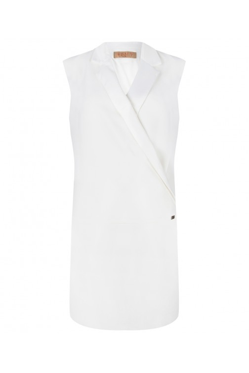 Josh V white blazer dress