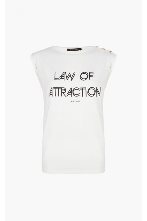 Supertrash Taury t-shirt; LAW OF ATRACTION