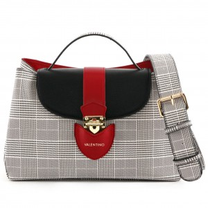 Valentino VBS3KA02 satchel checkered in red