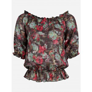 Nikkie N.6-028.2004 Rosa top in print