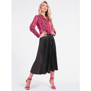 Guess W94D89WC770 Violet skirt leather plissé