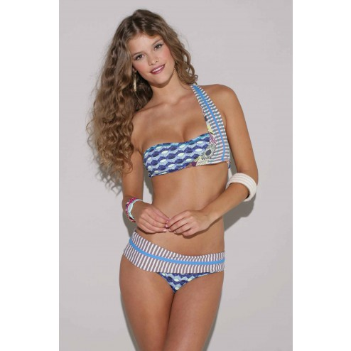 One-shoulder bikini van Maaji: Bloomy Cabana.