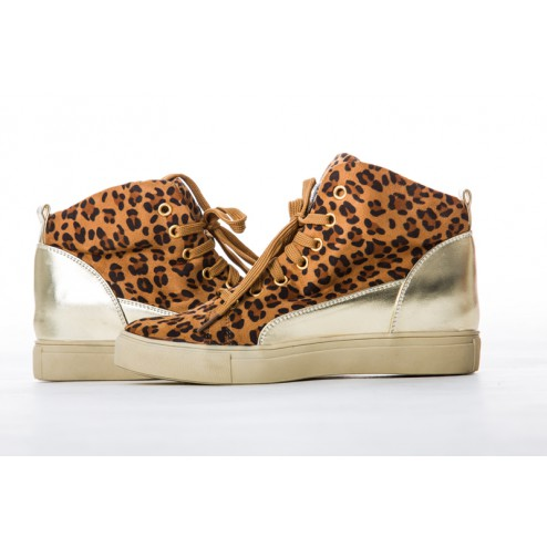 Jacky Luxury sneakers in tigerprint.