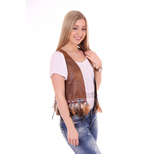 faux leather gilet