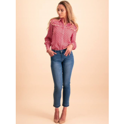 Its Given blouse Suze in fuchsia