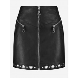 Nikkie N3-409 2005 Moise Rings skirt in black leather