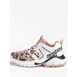 Guess Marlia sneakers in pink leopard