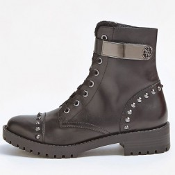 Guess Haleigh boots met spikes in gun metal