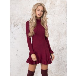 Kim Strijd Dorra dress in lurex - wine red