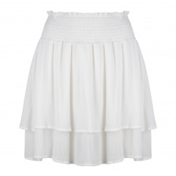 Jacky Luxury JLSS20099 ruffle skirt white