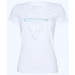 Guess Peace t-shirt met satin print in mint
