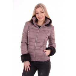 Nickelson winterjas Sapphire in taupe