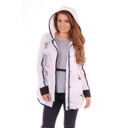 Nickelson jacket oversized in white