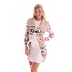 Fracomina long Cardigan colour print