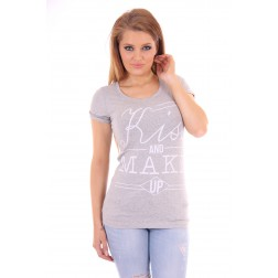 Tailor & Elbaz statement shirt 'Kiss and make up' in grey