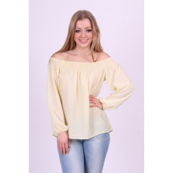 Top van Jacky Luxury in pastel geel.