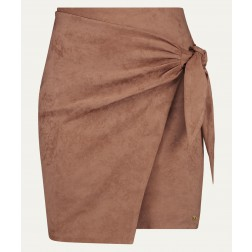 Josh V Jenner skirt van suedine in dark blush