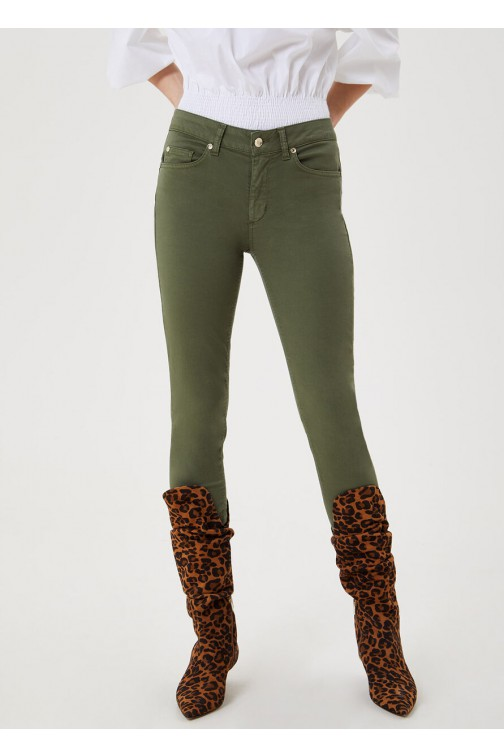 LiuJo high rise skinny jeans in sage