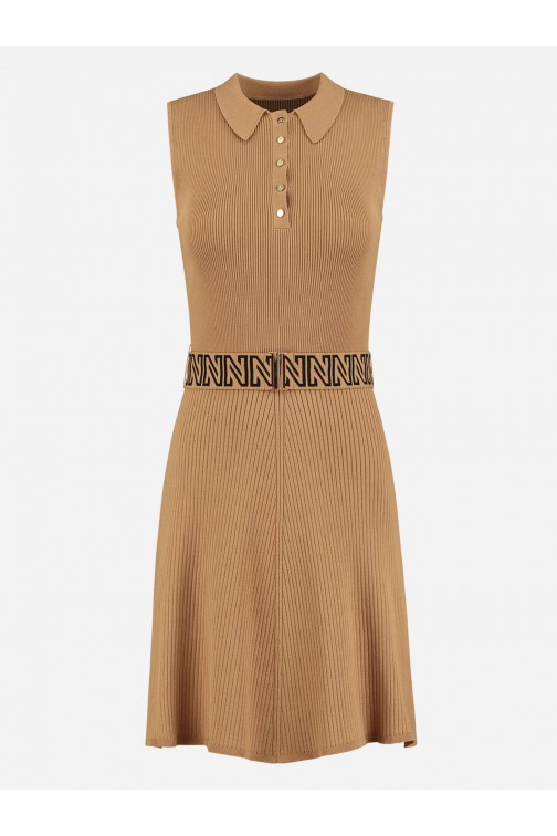 Nikkie Penny dress met riem in desert