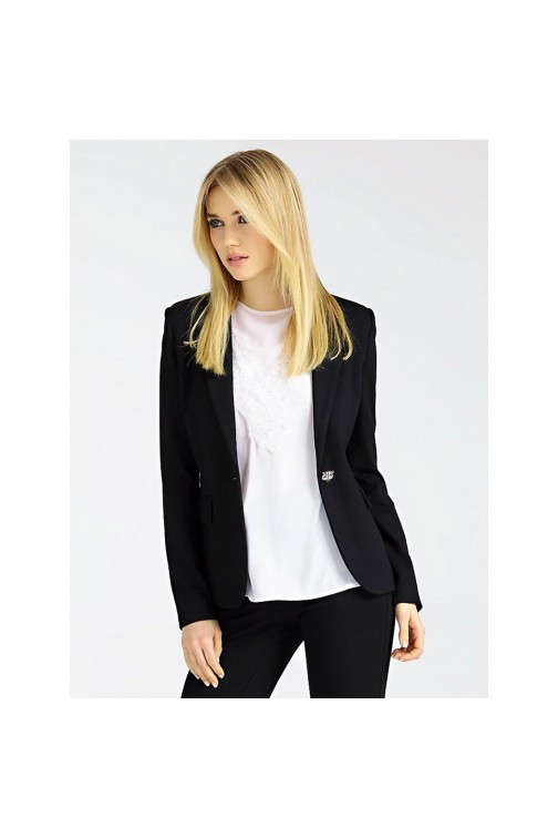 Guess blazer Pixie in zwart met stretch