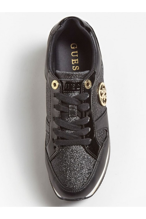 Guess Dealy sneakers in zwart - goud