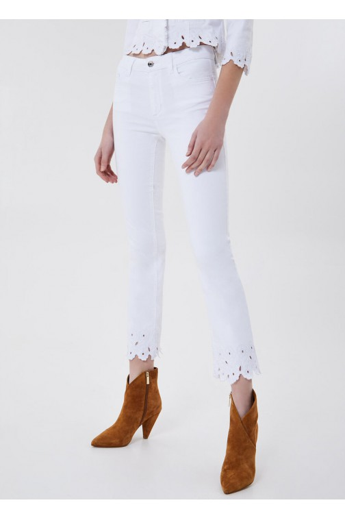 LiuJo Ideal jeans in wit - embroidered