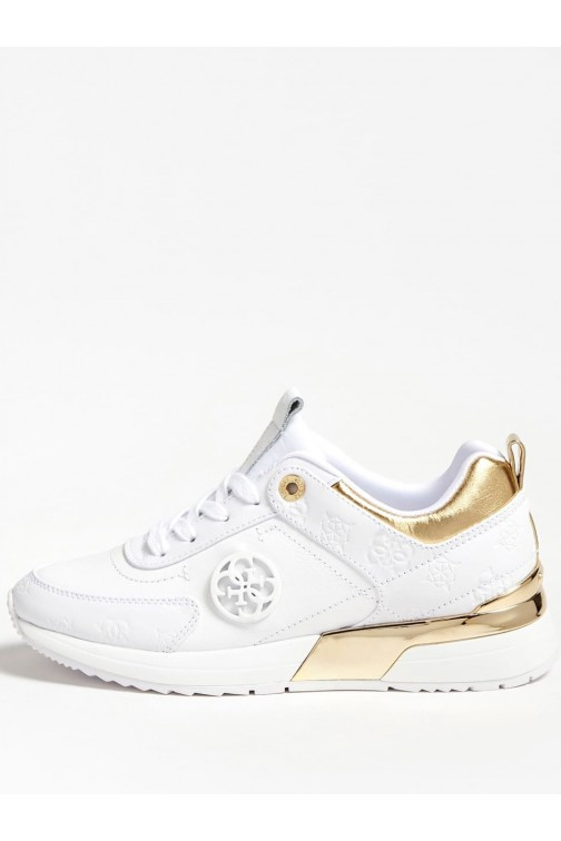 Guess Marlyn sneakers in wit-goud