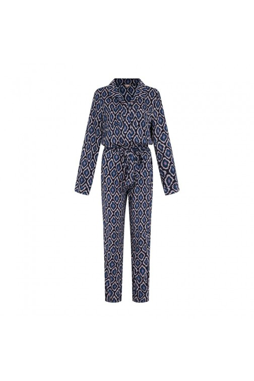 Given fashion jumpsuit ZOE blue snake