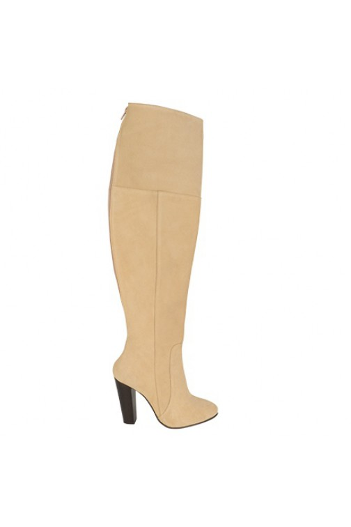 So Jamie Busines overknee boots in beige