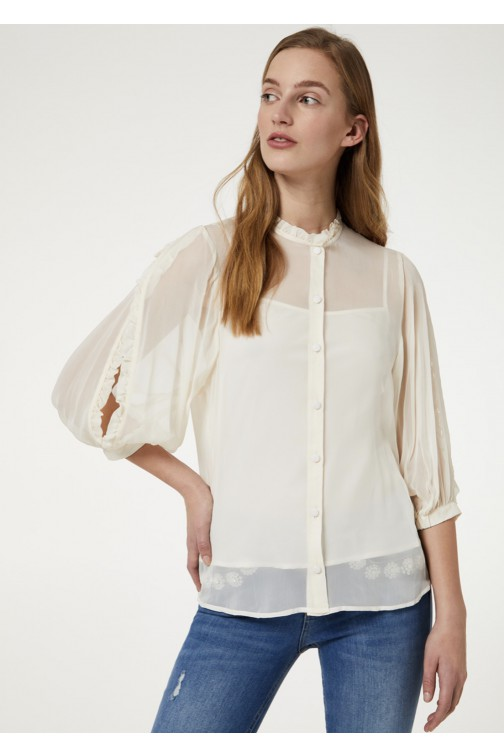 LiuJo blouse met cutouts - cream