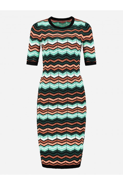 Nikkie Kitty dress in Missoni zigzag print