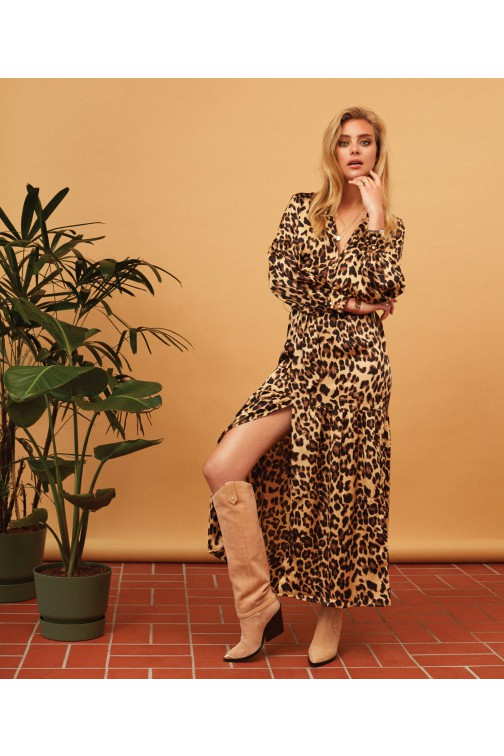 Josh V maxidress Rosemary in leopard
