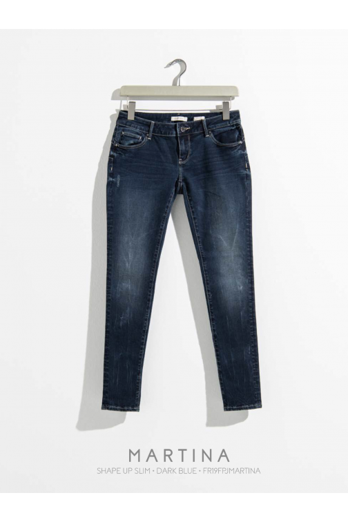 Fracomina Martina shape up jeans en dark denim