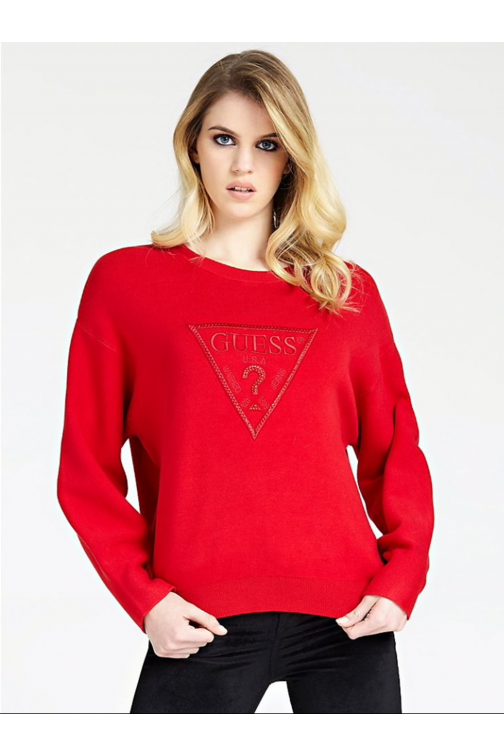 Guess Magda jumper in rood - logo sweater