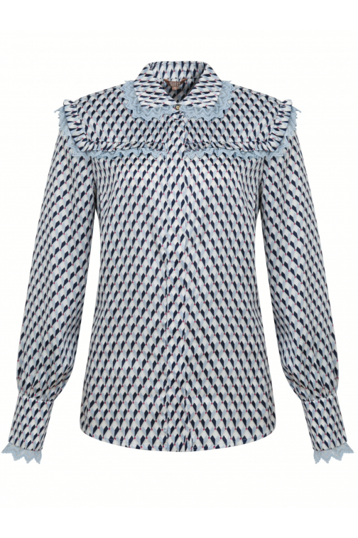 Its Given blouse Suze in blue