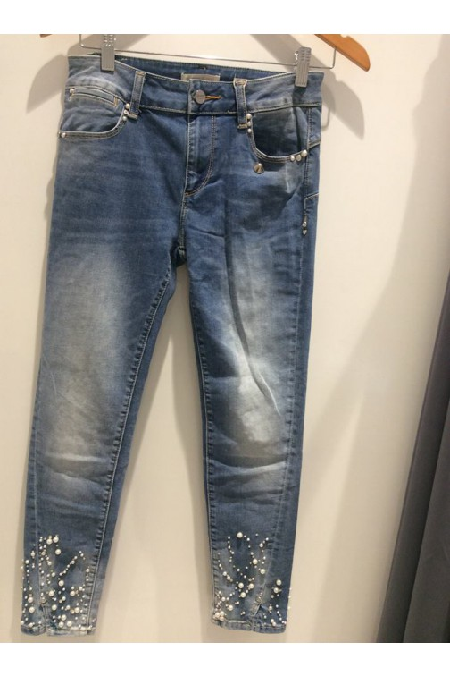 Fracomina jeans Betty met parels