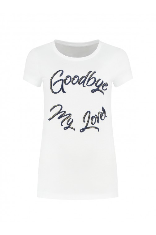 Nikkie Goodbye t-shirt in wit