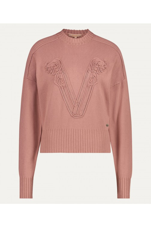 Josh V Sjarde trui in dark blush