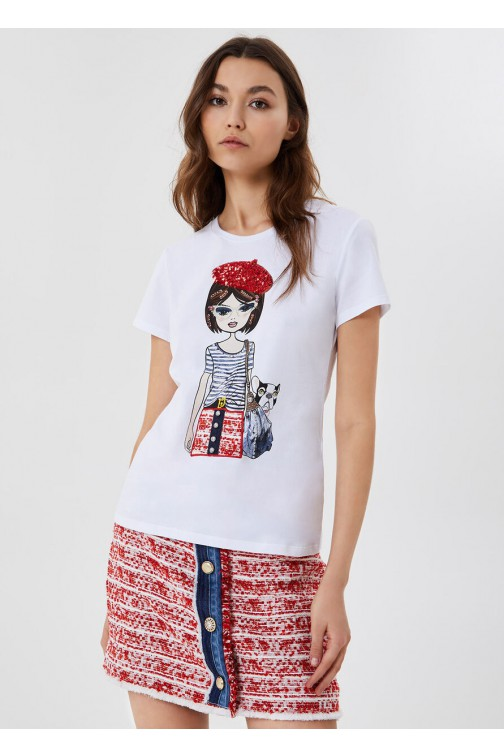 LiuJo t-shirt French Girl