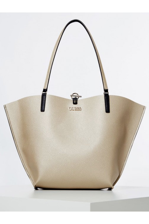 Guess Alby reversibel shopper zwart-goud