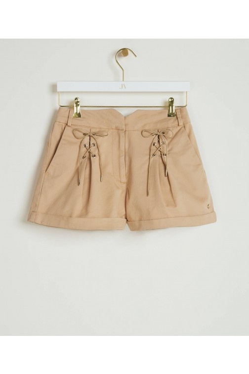 Josh V Patty short met veter in beige