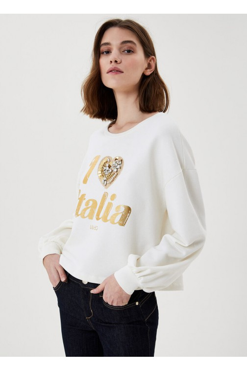 LiuJo i love Italia sweater - gemstones
