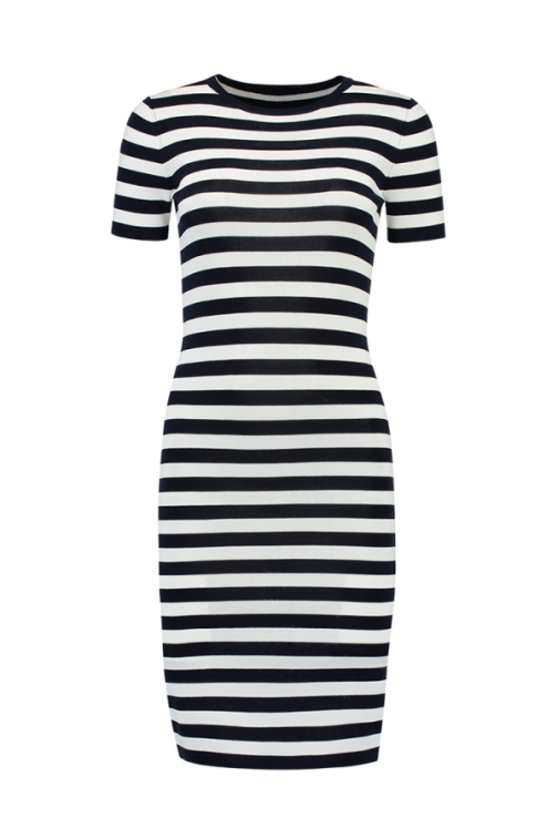 Nikkie Jolie stripe dress; navy - white