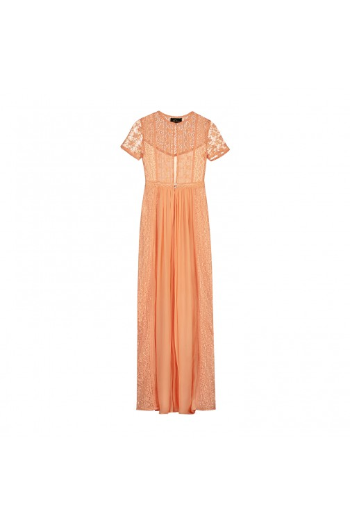 Labee Dreambird maxidress in peach