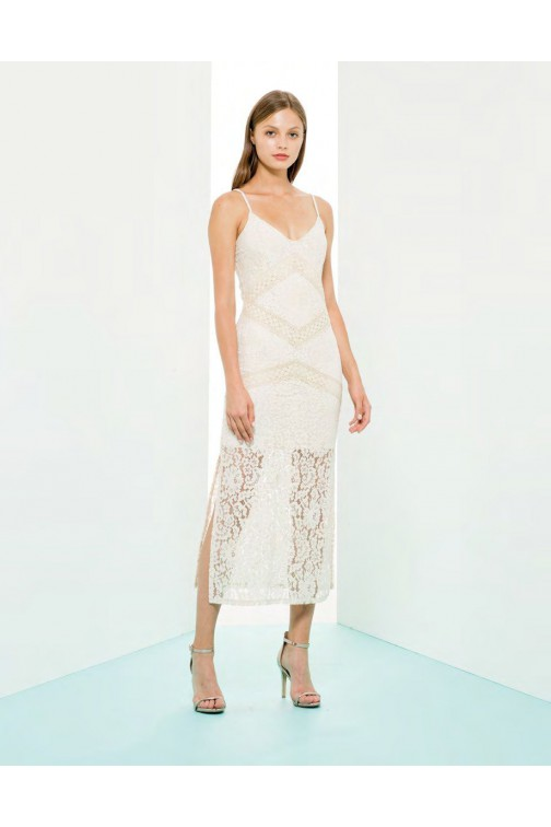 Fracomina Maxidress in kant - cream