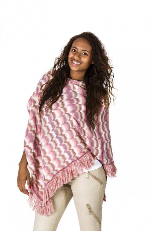 b-loved poncho in ROZe missoni print.