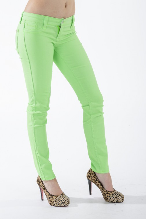 Groene reversible jeans van Sylvia's secret by SOS.