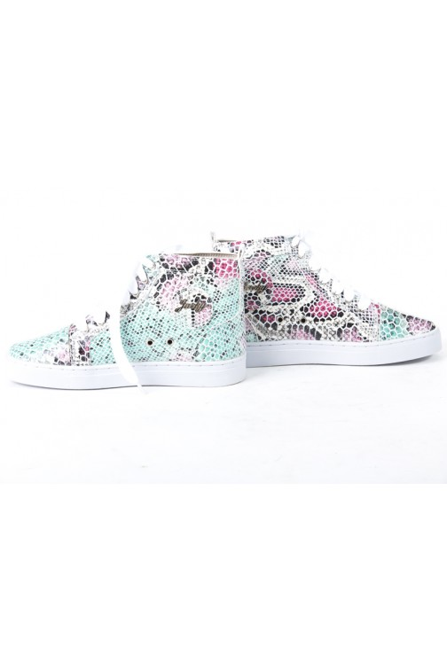 Snakeprint sneakers van Jacky Luxury in multicolor.