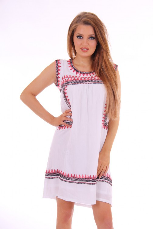 B.loved embroidered boho dress