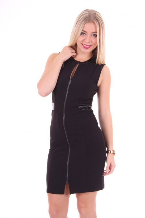 Gaudi dress in black: Zipperdress
